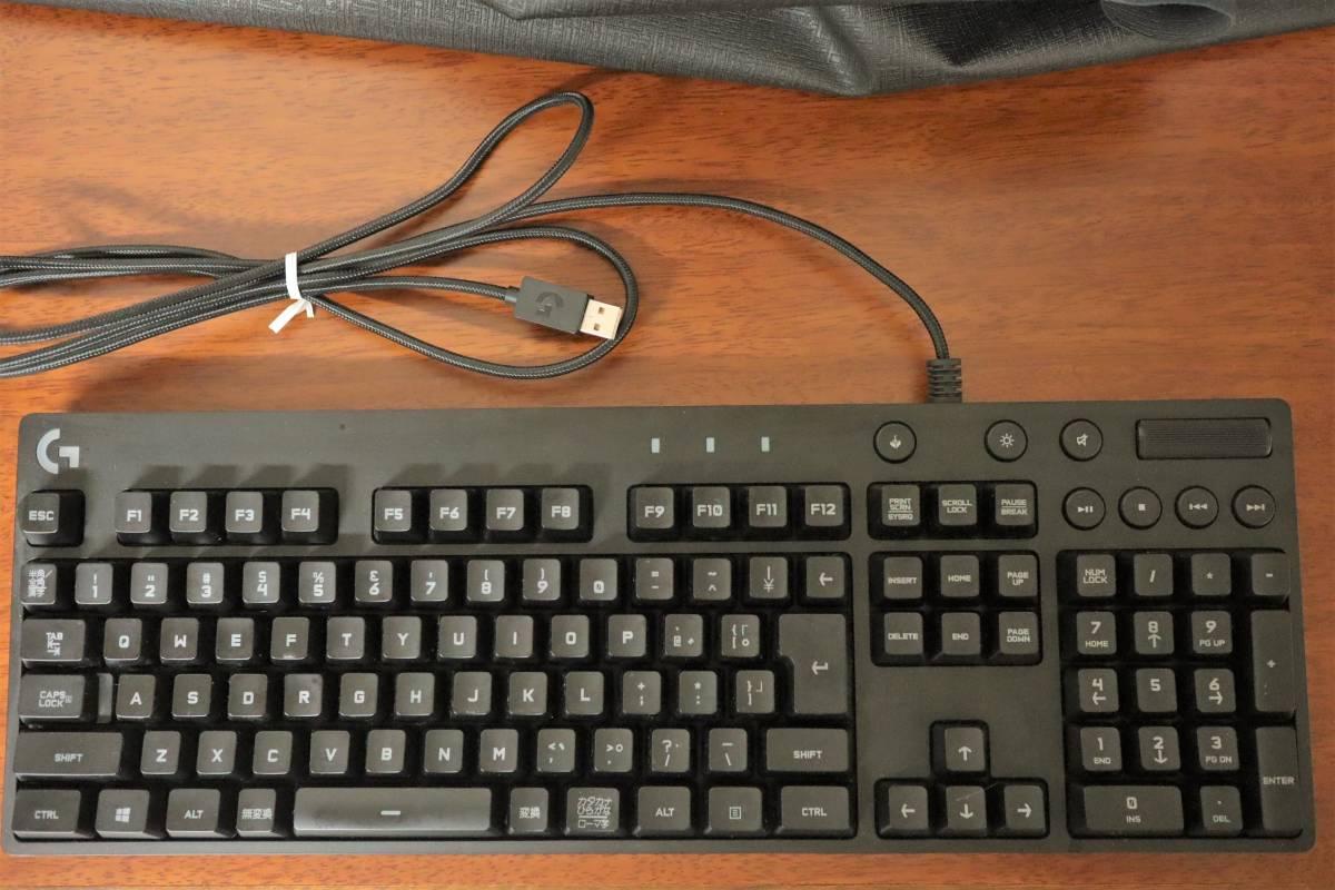 Logicool ロジクール RGB メカニカルゲーミングキーボード G810 USB接続