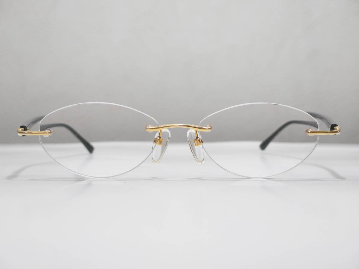 【CITIZEN★シチズン】K18金無垢ツーポイント眼鏡★1094】_画像5