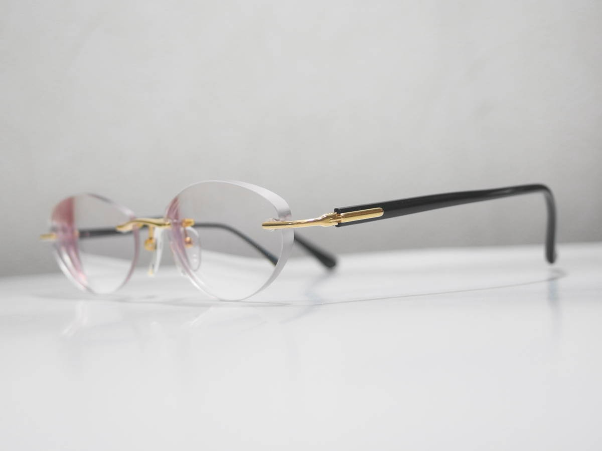 【CITIZEN★シチズン】K18金無垢ツーポイント眼鏡★1094】_画像7
