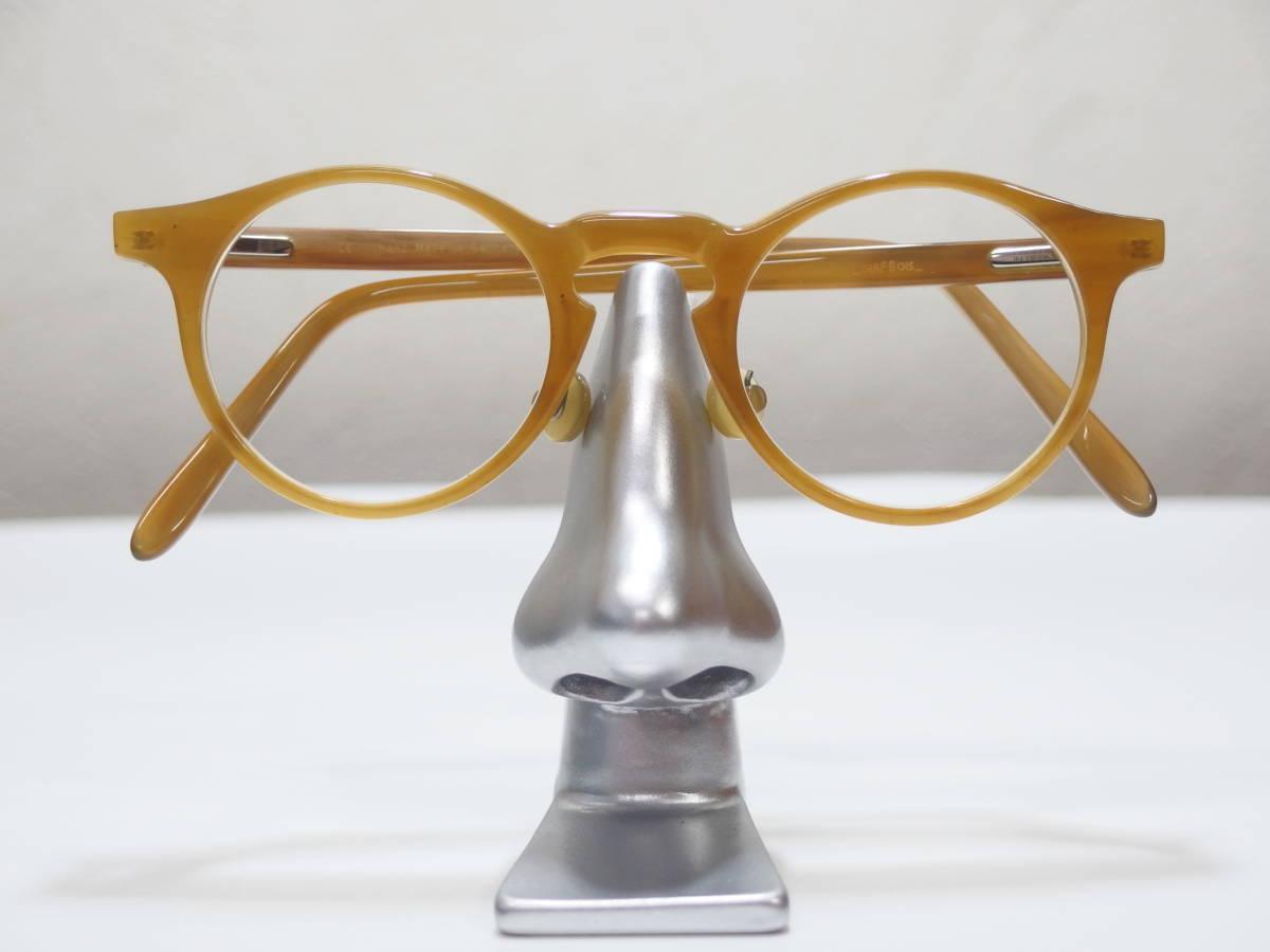 【CERF BOIS★セルボア★定価21万】バッファローホーン眼鏡★バネ丁番★ウッド&レザーケース★1130】_画像2