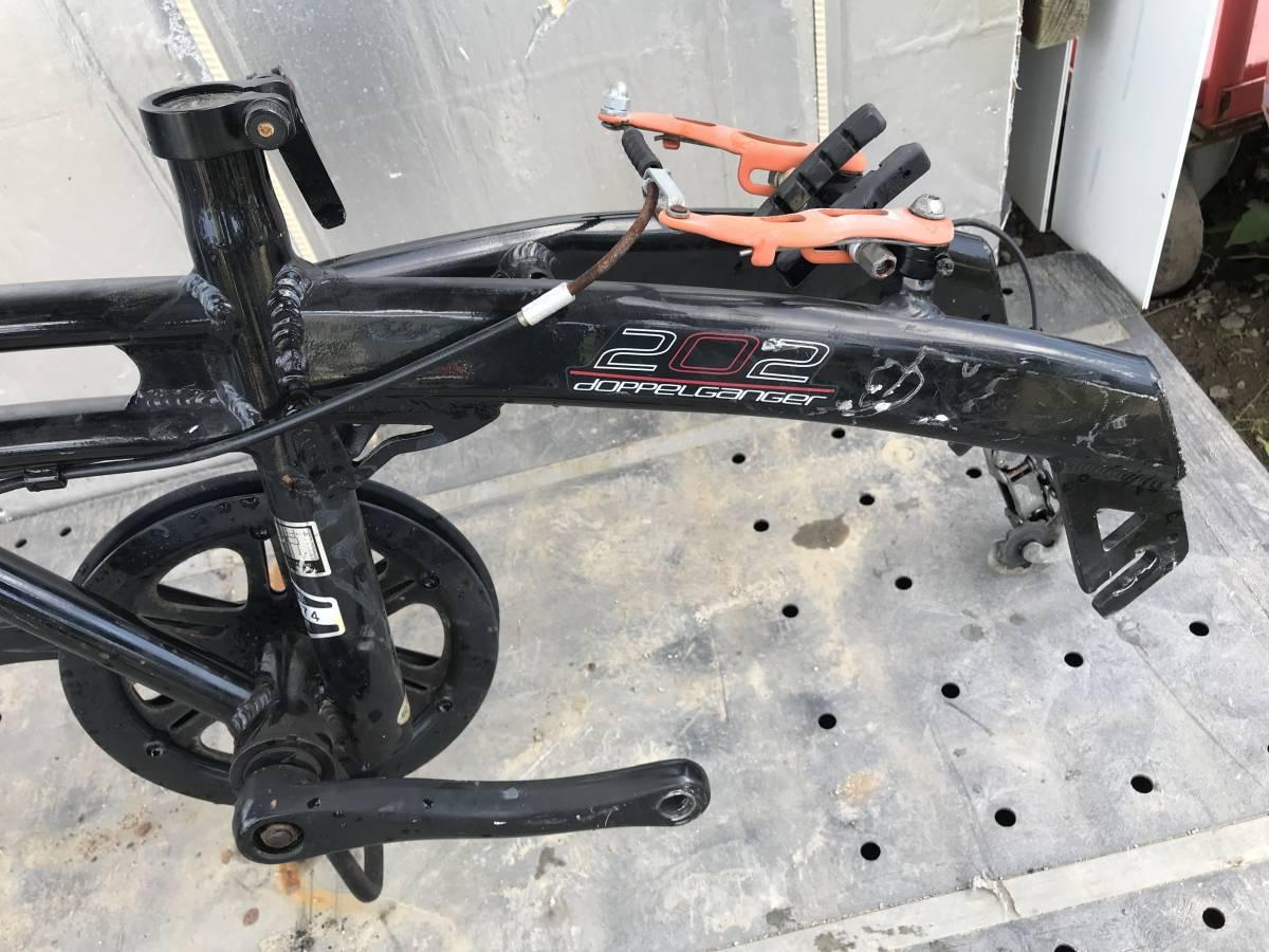 ♪「静岡県」発♪[♪Doppelgnger / ドッペルギャンガー 202 black Max ♪]20インチ アルミフレーム ブラック 折り畳み自転車 ★中古_画像8