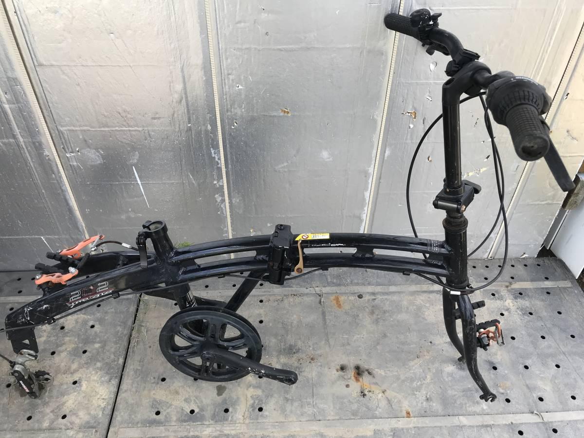 ♪「静岡県」発♪[♪Doppelgnger / ドッペルギャンガー 202 black Max ♪]20インチ アルミフレーム ブラック 折り畳み自転車 ★中古