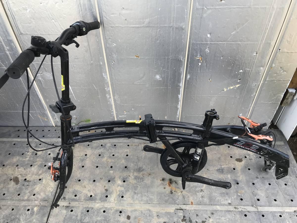 ♪「静岡県」発♪[♪Doppelgnger / ドッペルギャンガー 202 black Max ♪]20インチ アルミフレーム ブラック 折り畳み自転車 ★中古_画像7