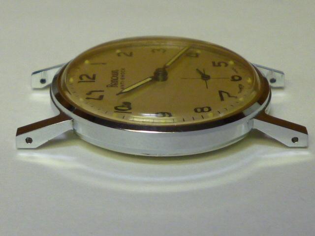 50s ビンテージ RENOWN 腕時計 手巻き ウォッチ スイス製 ミリタリー ダイヤル スモールセコンド スモセコ 機械式 稼働品 美品_画像7