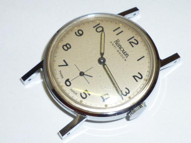 50s ビンテージ RENOWN 腕時計 手巻き ウォッチ スイス製 ミリタリー ダイヤル スモールセコンド スモセコ 機械式 稼働品 美品_画像2