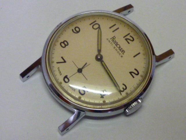 50s ビンテージ RENOWN 腕時計 手巻き ウォッチ スイス製 ミリタリー ダイヤル スモールセコンド スモセコ 機械式 稼働品 美品
