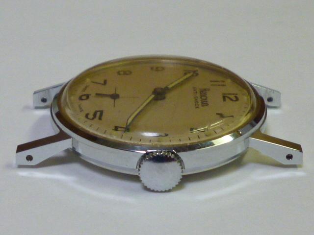 50s ビンテージ RENOWN 腕時計 手巻き ウォッチ スイス製 ミリタリー ダイヤル スモールセコンド スモセコ 機械式 稼働品 美品_画像6