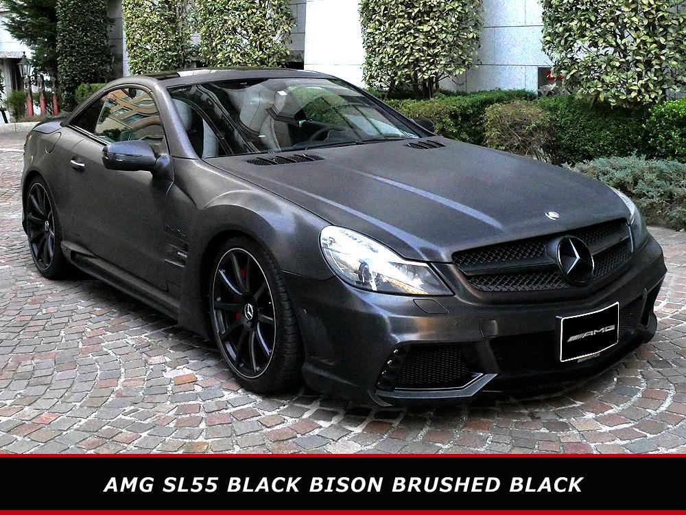 【超美車・売切398万】 AMG SL55 パフォーマンス 後期仕様 ブラックバイソン ラッピング パノラマルーフ R230 SL63 オープンカー【個人】