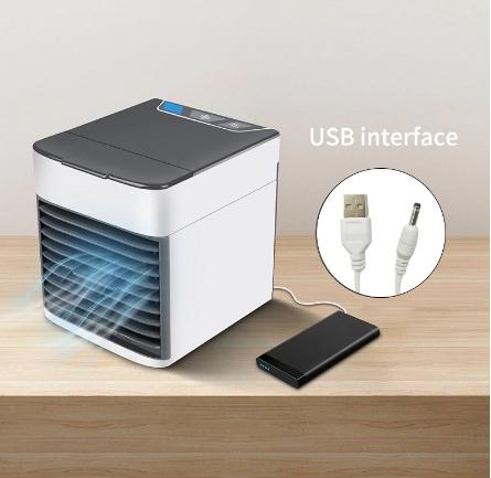 卓上扇風機 ポータブルエアコン ミニエアコン クーラー加湿器 清浄機 カラフルな Led ライト 空冷ファン_画像5