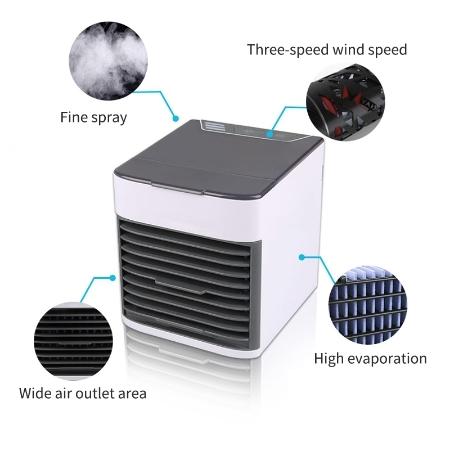 卓上扇風機 ポータブルエアコン ミニエアコン クーラー加湿器 清浄機 カラフルな Led ライト 空冷ファン_画像3