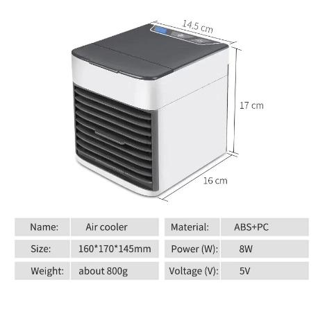 卓上扇風機 ポータブルエアコン ミニエアコン クーラー加湿器 清浄機 カラフルな Led ライト 空冷ファン_画像4