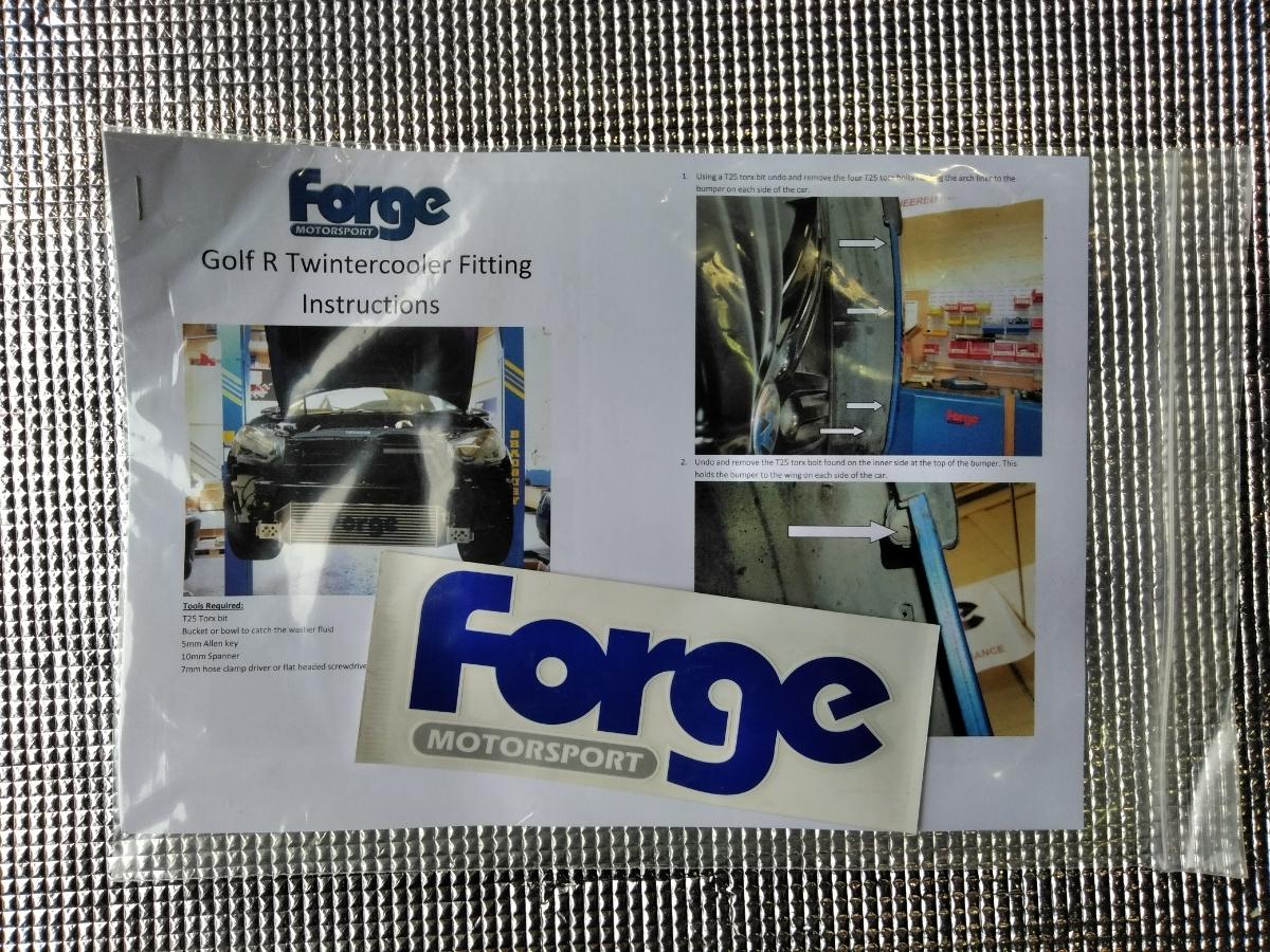 ForgeMortersport インタークーラーキット VW GOLF6R用 新品未使用_画像10