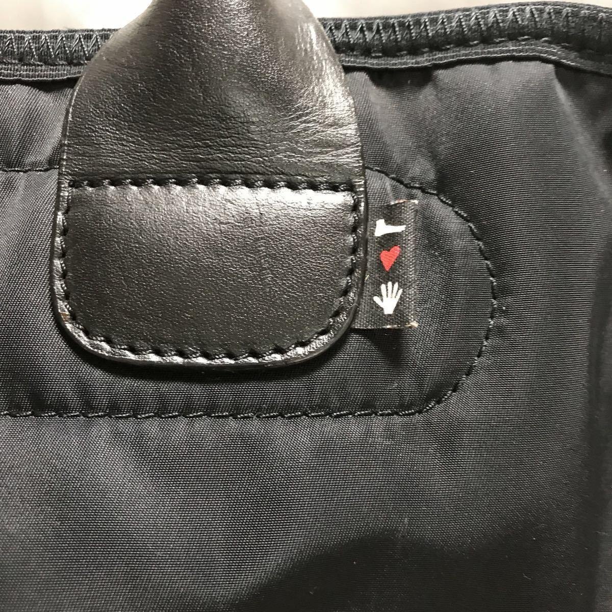 カンペール CAMPER by hands ブリーフケース ビジネスバッグ 黒×赤 パソコンバッグ レディース メンズ_画像2