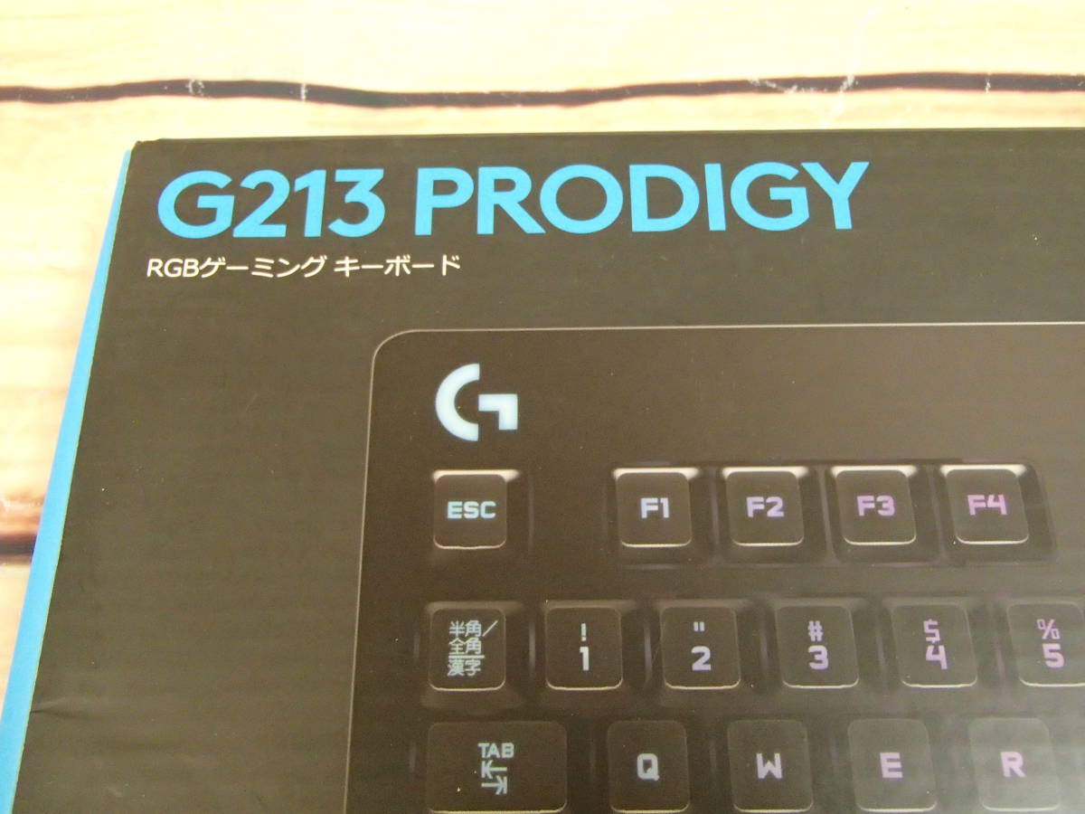 □Logicool ロジクール G213 Prodigy RGB ゲーミング キーボード 高速反応メンブレン□_画像8