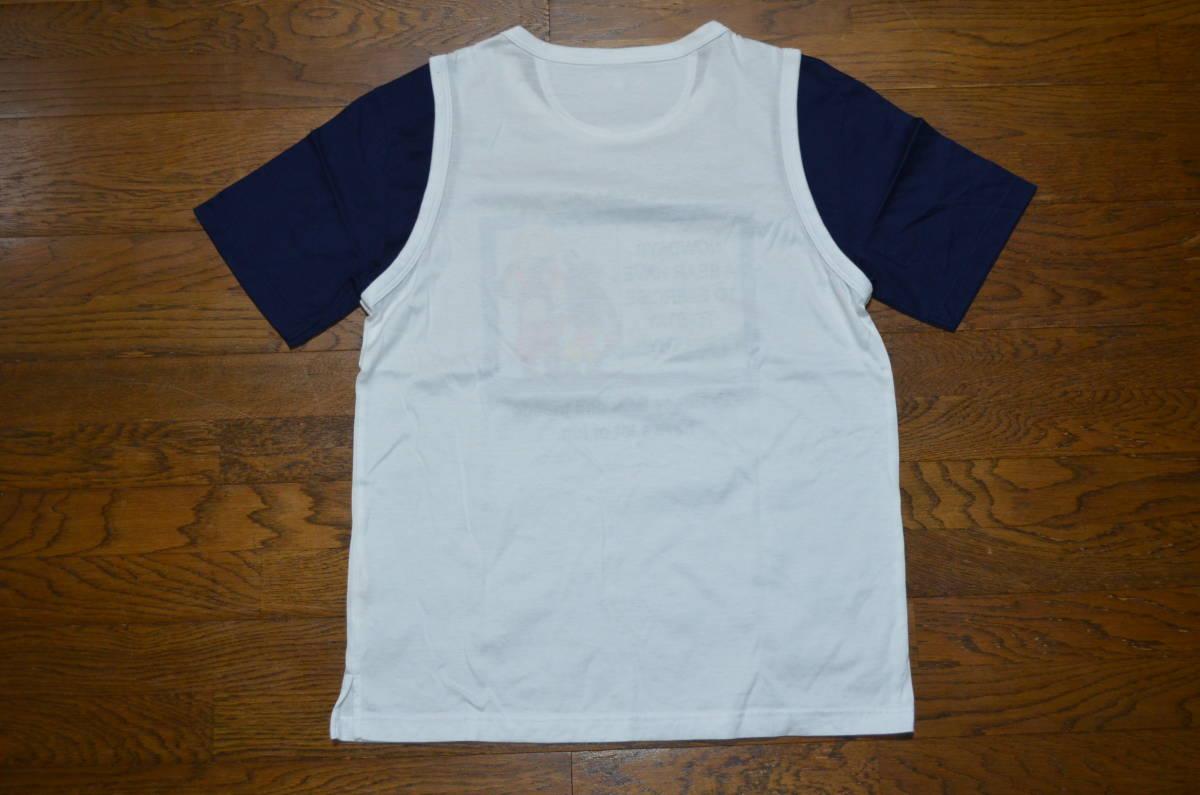 ●USED!カステルバジャックCASTELBAJAC SPORTプリントTシャツ 重ね着風 サイズ3 良品_画像2