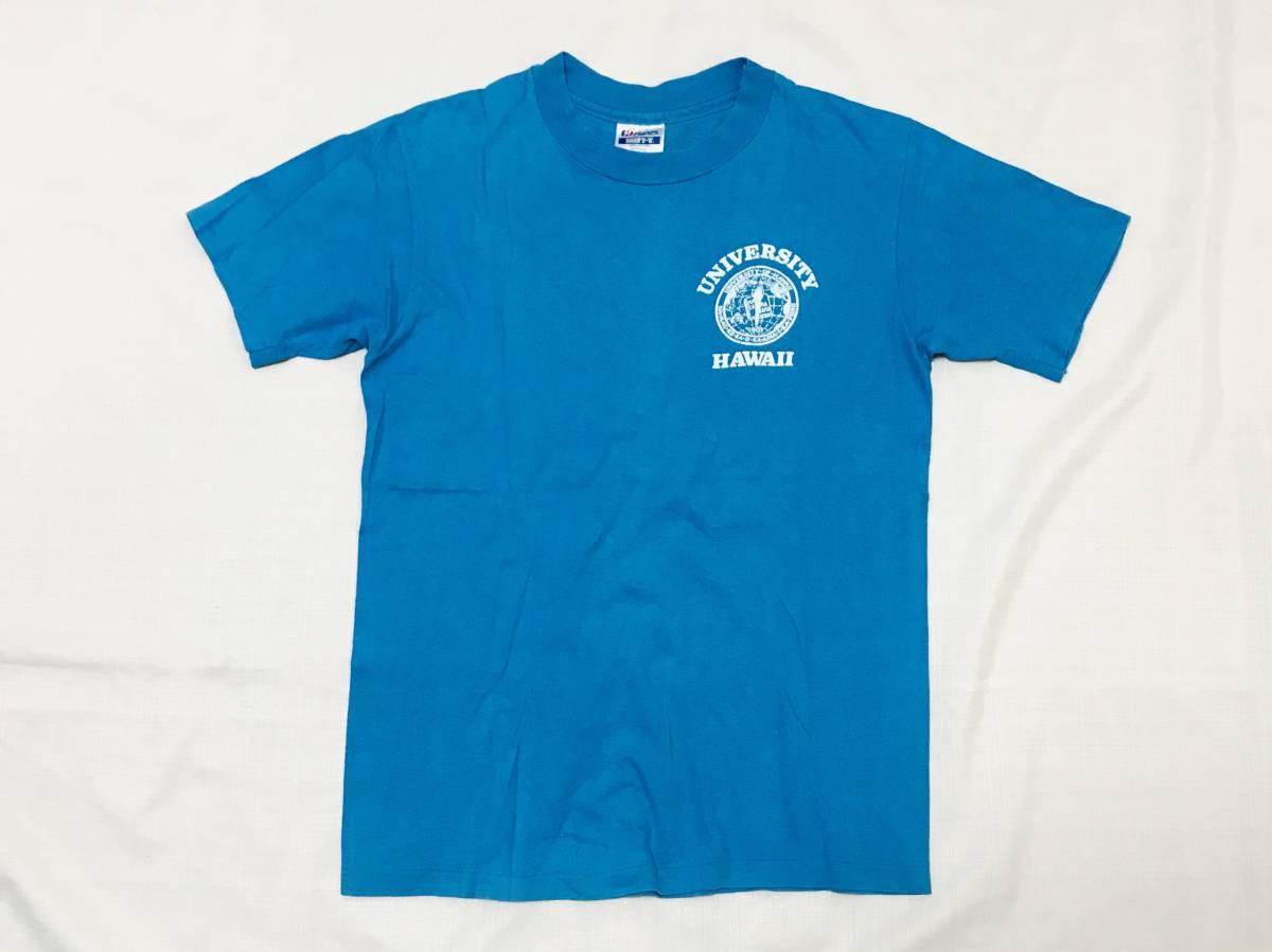 80sビンテージ ヘインズ BEEFY-T ハワイ カレッジ Tシャツ USA製 レアカラー HAWAII 大学 オリジナル 80年代 HANES アメリカ製 古着 米国製_貴重なハワイのカレッジプリントです。