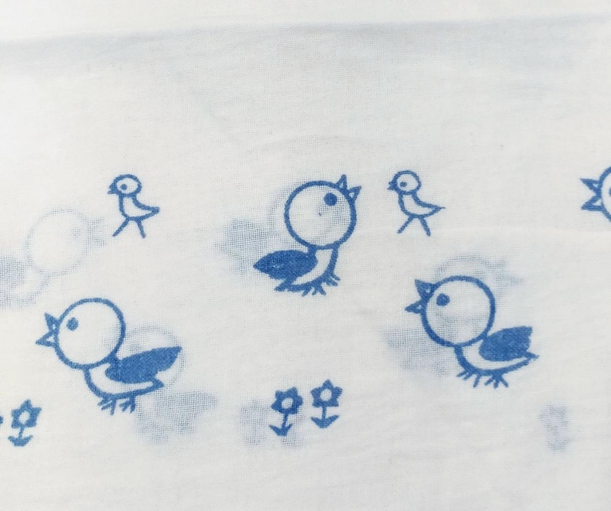 昭和レトロ 布おむつ 2  小鳥ちゃんヒヨコちゃん 22枚 輪っかオムツおしめ