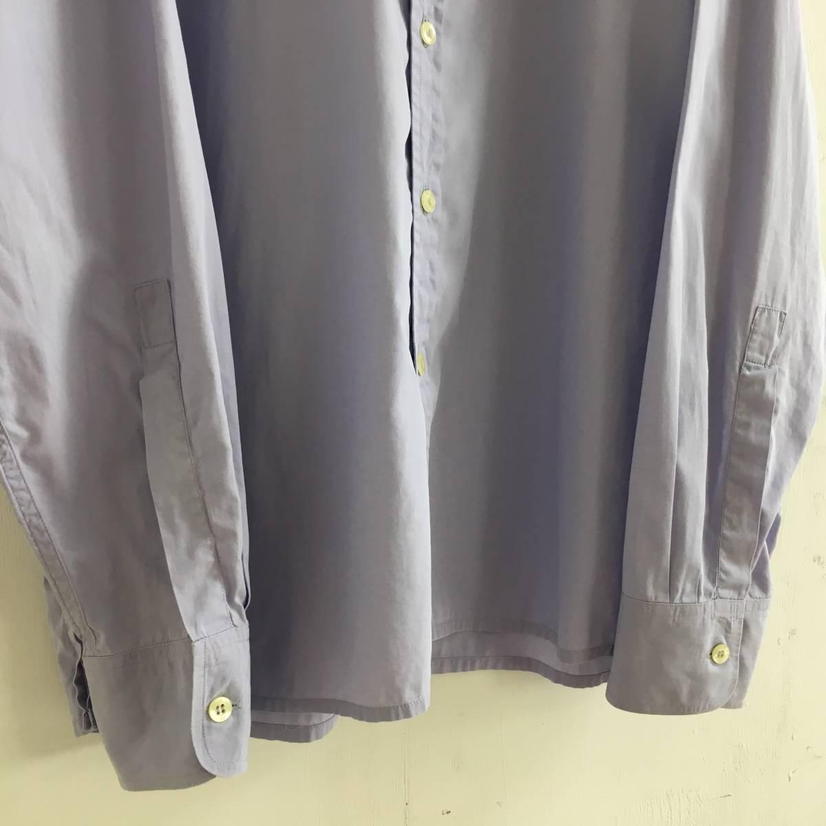 #Paul Smith ポールスミス 長袖シャツ ブラウス 薄い紫 パープル Mサイズ 綿100% USED【送料一律/同梱可能】_画像3