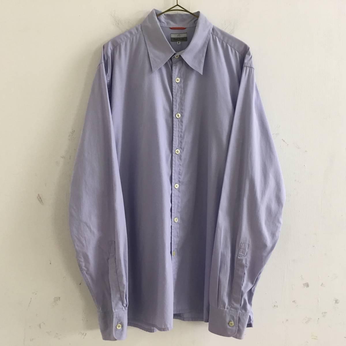 #Paul Smith ポールスミス 長袖シャツ ブラウス 薄い紫 パープル Mサイズ 綿100% USED【送料一律/同梱可能】