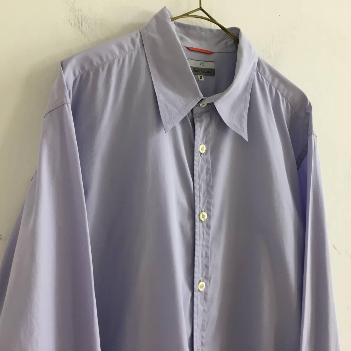 #Paul Smith ポールスミス 長袖シャツ ブラウス 薄い紫 パープル Mサイズ 綿100% USED【送料一律/同梱可能】_画像2