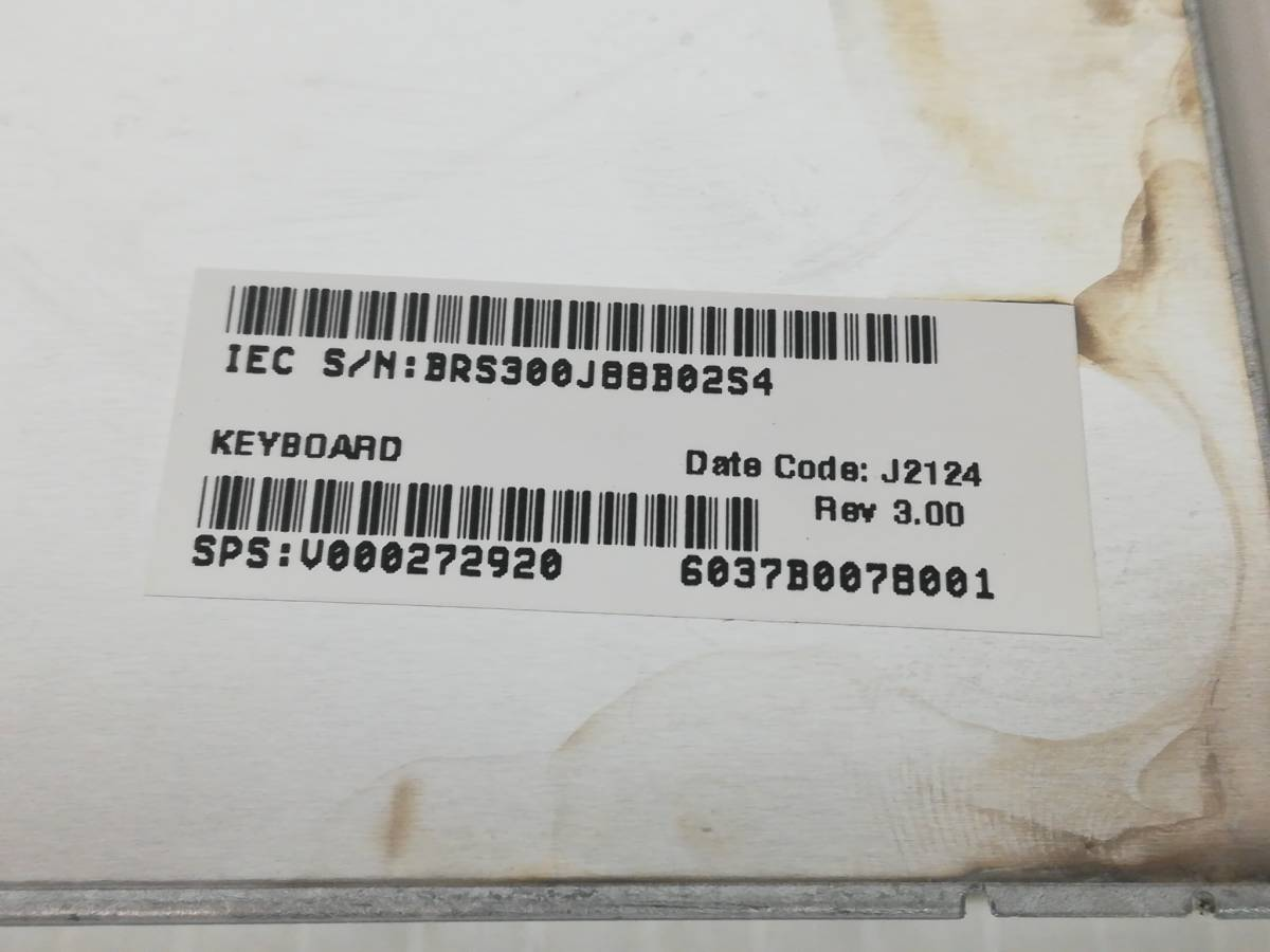 p467◇◆中古 東芝 dynabook Satellite B252 B352 B452 テンキー付き 日本語キーボード ホワイト 6037b0078001_画像7