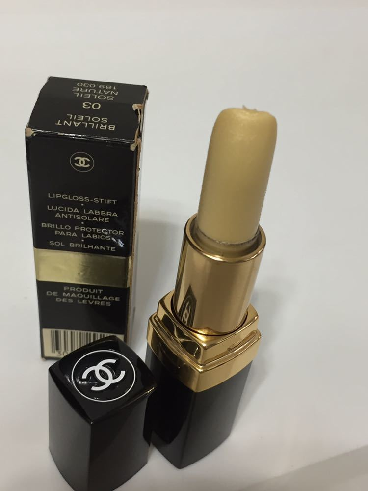 Chanel BRILLANT SOLEIL #03 SOLEILNATURE lipstick scratch equipped outside fixed form shipping 200 jpy