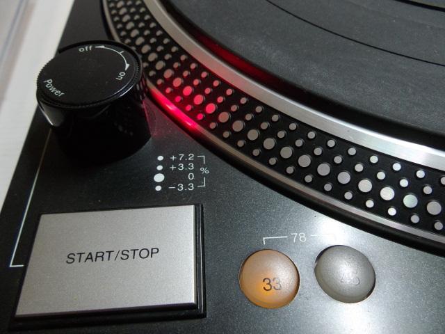 ★ ターンテーブル レコードプレーヤー DENON デノン DP-DJ100 カートリッジ SURE ME95ED付_画像3