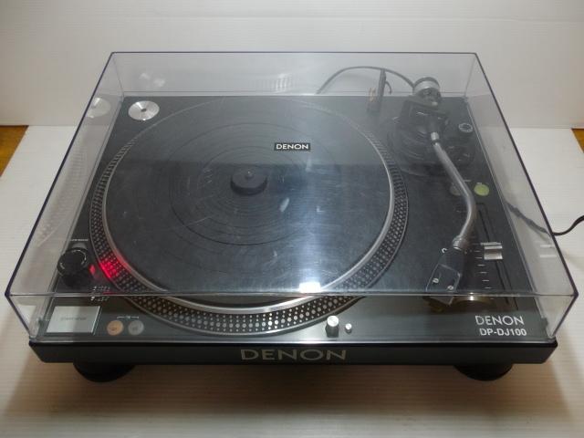 ★ ターンテーブル レコードプレーヤー DENON デノン DP-DJ100 カートリッジ SURE ME95ED付