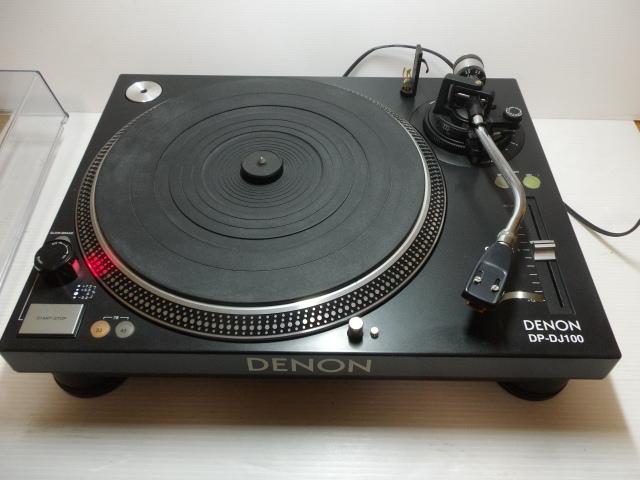 ★ ターンテーブル レコードプレーヤー DENON デノン DP-DJ100 カートリッジ SURE ME95ED付_画像2