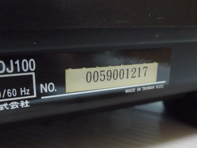 ★ ターンテーブル レコードプレーヤー DENON デノン DP-DJ100 カートリッジ SURE ME95ED付_画像10