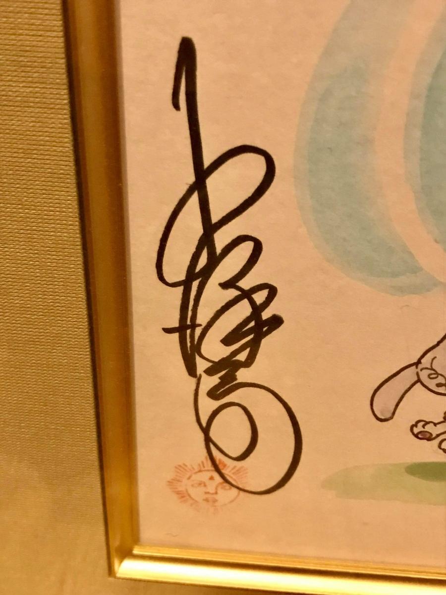 ロボダッチ タマゴロー 小沢さとる 直筆 原画 イラスト 色紙 サイン 額装 貴重品_画像4