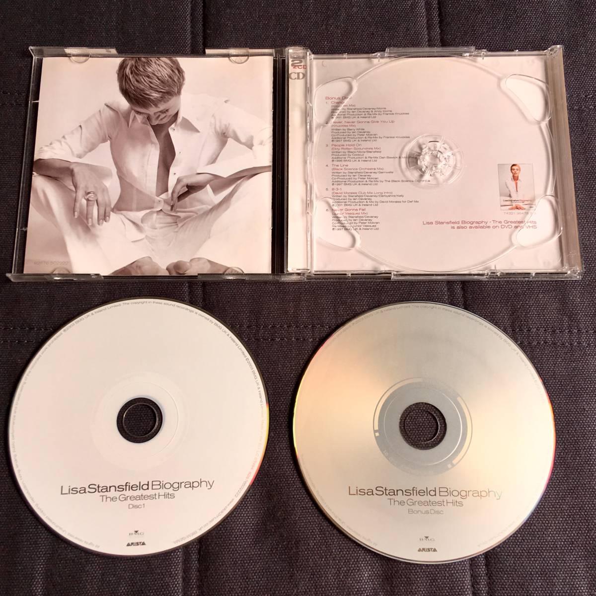 ベスト盤■リサ・スタンスフィールド[Lisa Stansfield Biography~The Greatest Hits]ボーナスCD付/FrankieKnuckles/COLDCUT/JuniorVasquez_画像2