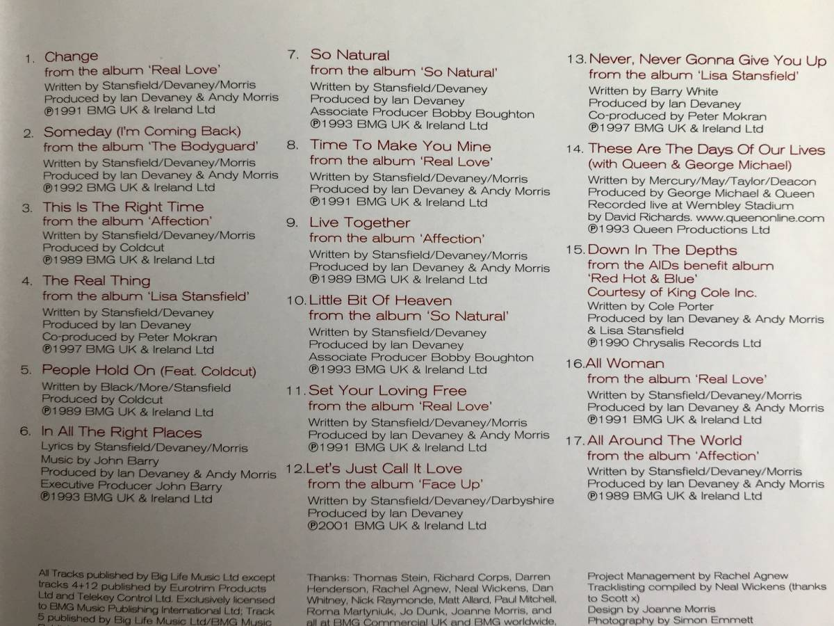 ベスト盤■リサ・スタンスフィールド[Lisa Stansfield Biography~The Greatest Hits]ボーナスCD付/FrankieKnuckles/COLDCUT/JuniorVasquez_画像3