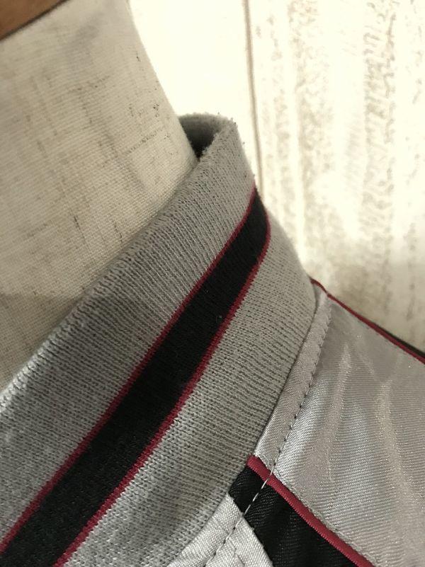 【龍刺繍】Traditional Japanese 和柄スカジャン L シルバー×黒 炎 龍_画像5