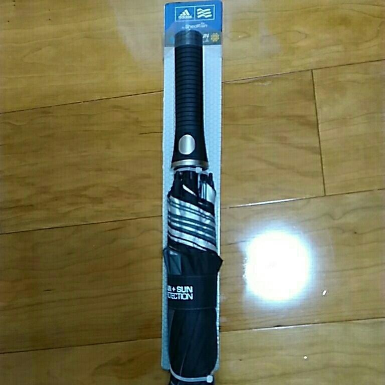 アディダス ダブルキャノピーUVアンブレラ グレー 直径137cm adidas ゴルフ 日傘 晴雨兼用 長傘 グローブ ラスト_画像4