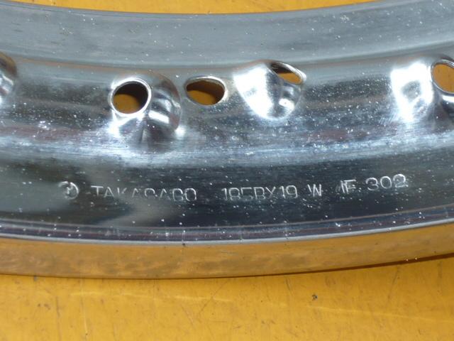 カワサキ500SS・H1・H1A・W1SA用フロントドラム、リム、スポークのセット_画像5
