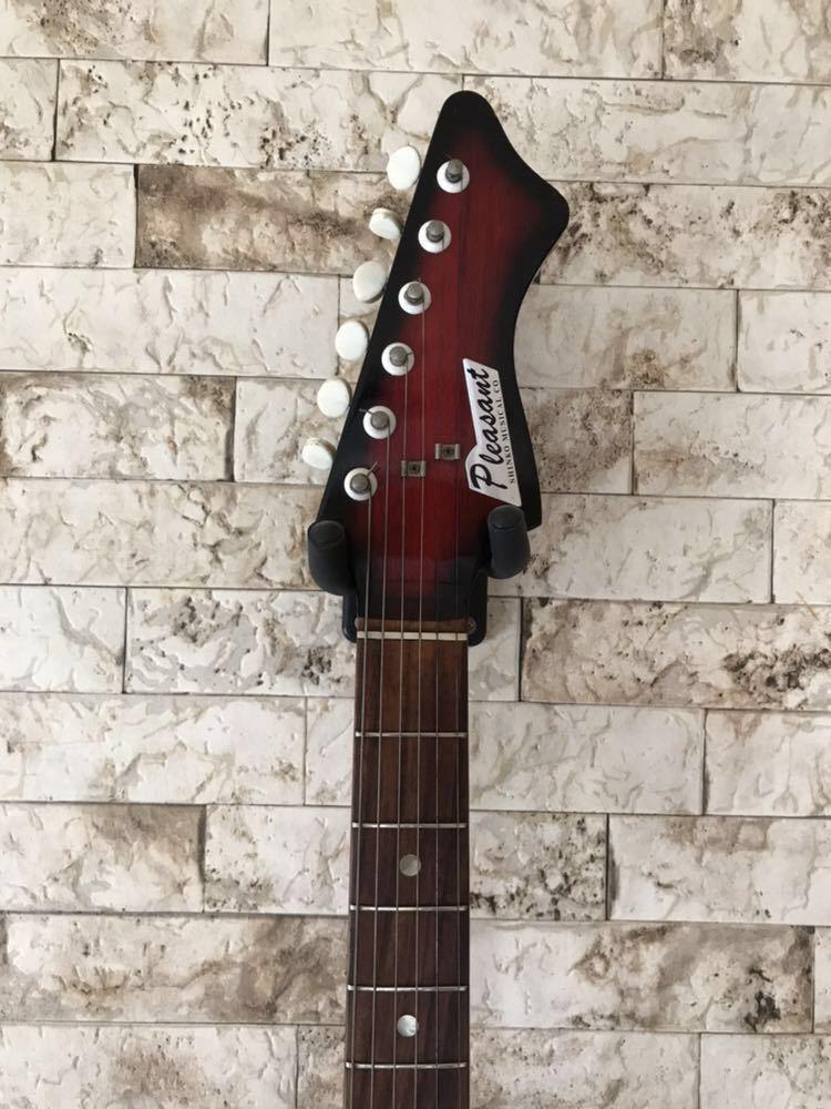 '1960~70年代 /貴重 ジャパンヴィンテージ ビザールギター PLEASANT(プリザント) 希少なビザールギター/レア!_画像5