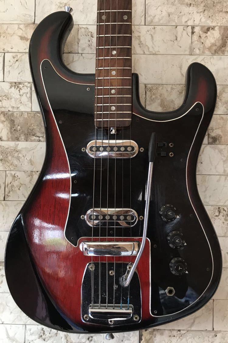 '1960~70年代 /貴重 ジャパンヴィンテージ ビザールギター PLEASANT(プリザント) 希少なビザールギター/レア!_画像3