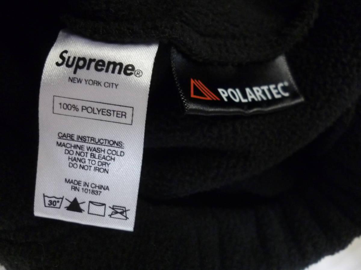 ☆シュプリーム SUPREME Polartec Harrington Jacket スモールロゴ フリースジャケット 黒L_画像7