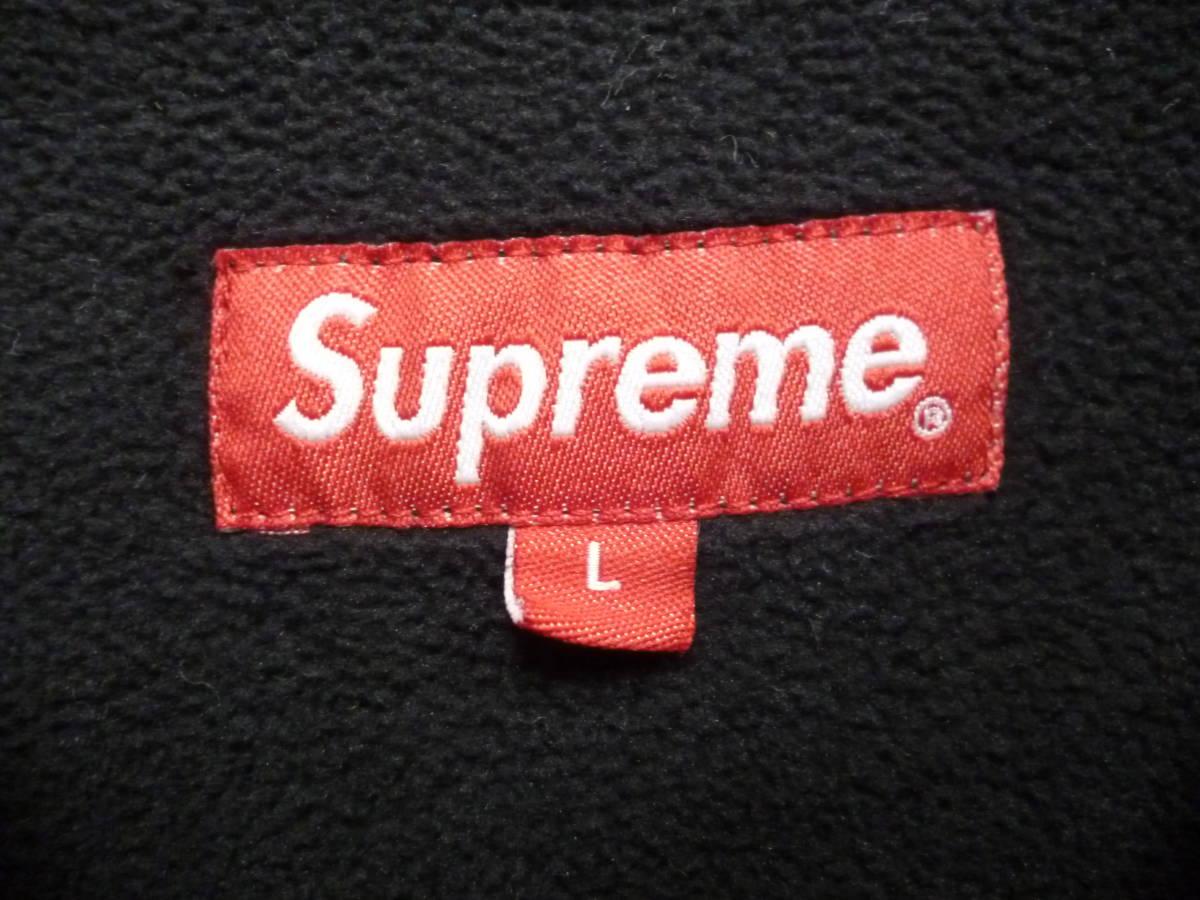 ☆シュプリーム SUPREME Polartec Harrington Jacket スモールロゴ フリースジャケット 黒L_画像2
