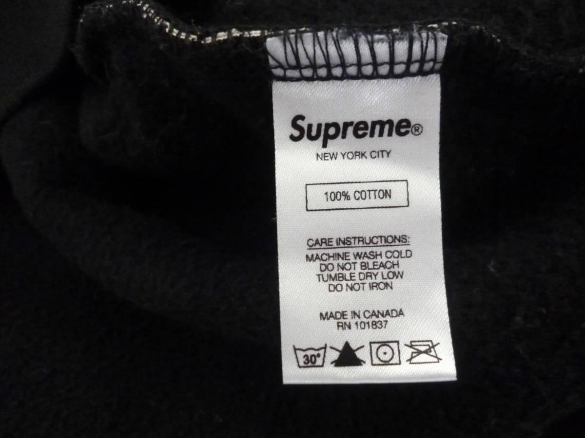 ☆シュプリームxヒステリックグラマー Supreme×HYSTERIC GLAMOUR Text Hooded Sweatshirt パーカー 黒L _画像5
