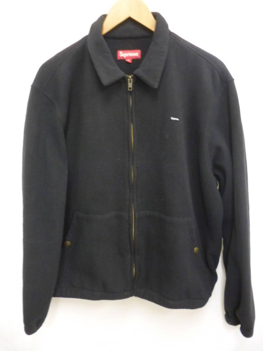 ☆シュプリーム SUPREME Polartec Harrington Jacket スモールロゴ フリースジャケット 黒L