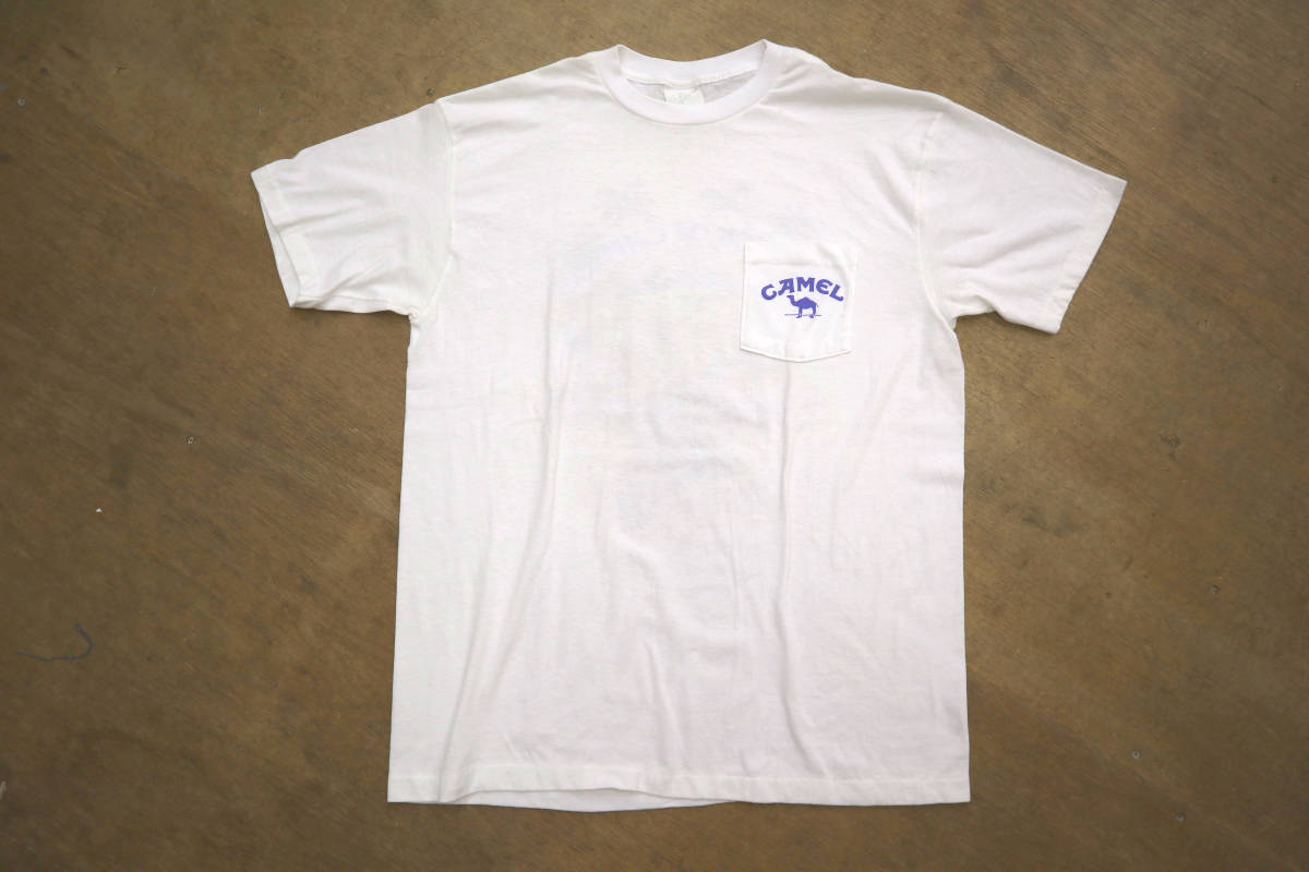 雰囲気◎ 90's ビンテージ camel pocket Tシャツ 両面 プリント XL キャメル ポケットt tee タバコ 企業物 usa tabacco vintage_画像3
