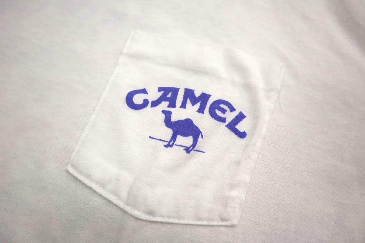 雰囲気◎ 90's ビンテージ camel pocket Tシャツ 両面 プリント XL キャメル ポケットt tee タバコ 企業物 usa tabacco vintage_画像2