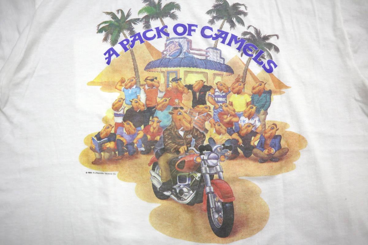 雰囲気◎ 90's ビンテージ camel pocket Tシャツ 両面 プリント XL キャメル ポケットt tee タバコ 企業物 usa tabacco vintage_画像5