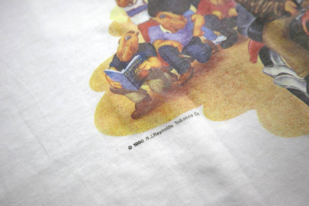 雰囲気◎ 90's ビンテージ camel pocket Tシャツ 両面 プリント XL キャメル ポケットt tee タバコ 企業物 usa tabacco vintage_画像6