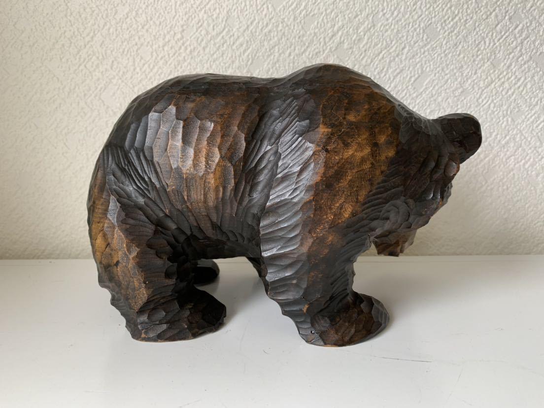 木彫りの熊 大和正幸作 夫婦熊 アイヌ 熊の置物_画像4