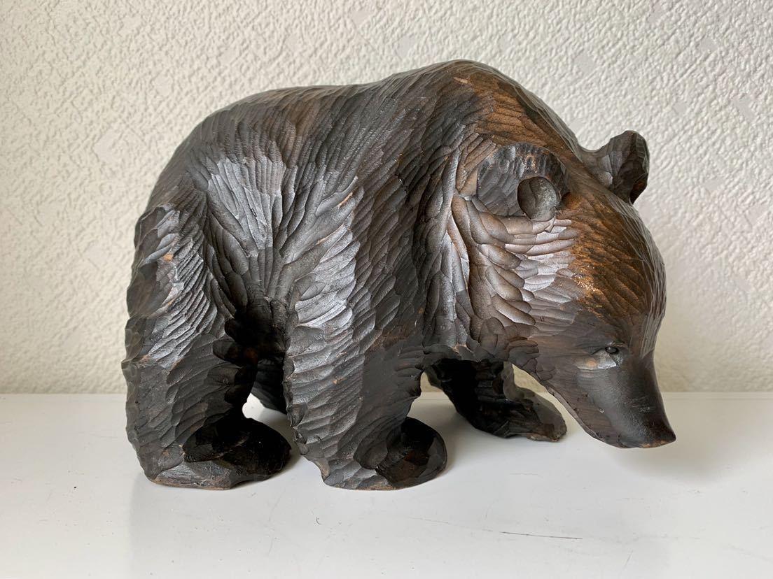 木彫りの熊 大和正幸作 夫婦熊 アイヌ 熊の置物_画像7