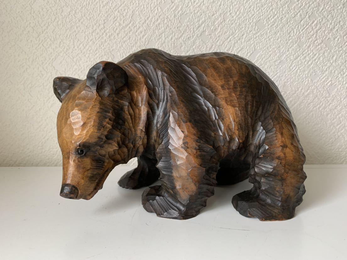 木彫りの熊 大和正幸作 夫婦熊 アイヌ 熊の置物_画像3