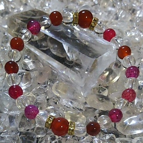 天然石 パワーストーン 水晶 ブレスレット ハンドメイド 風水 6㎜ 8㎜_画像1